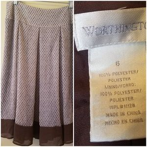Worthington skirt w/liner